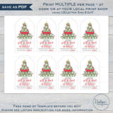 Editable Christmas Gift Tags, 2020 Will Go Down in History, Quaran-tree Personalized Holiday Tags, Gift Label Printable Favor Tag INSTANT