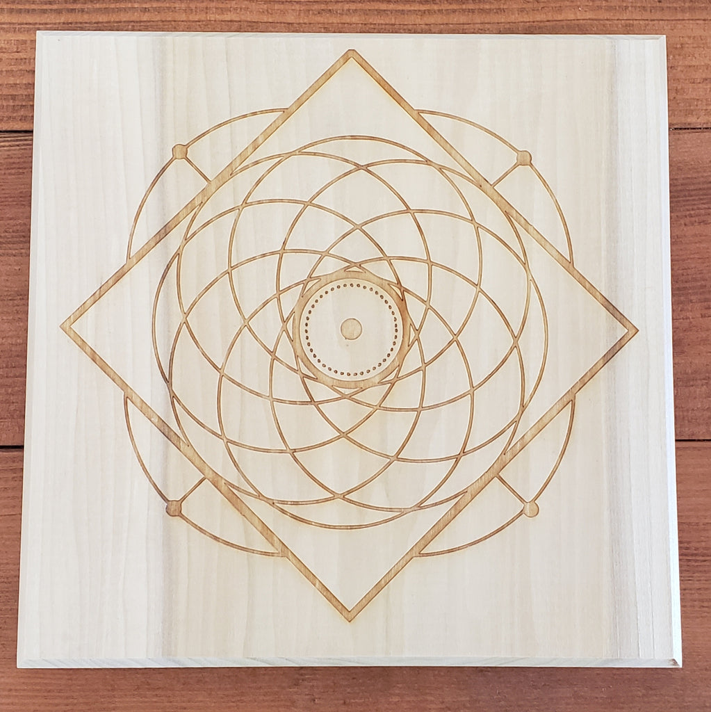(c) Hard Candy Wood Engraved Crystal Grids