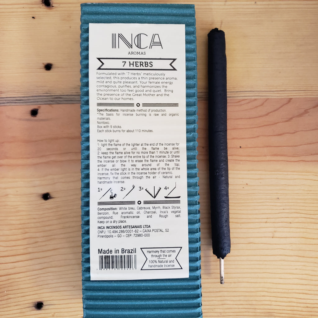 Inca Aromas Therapeutic Long Burning Incense