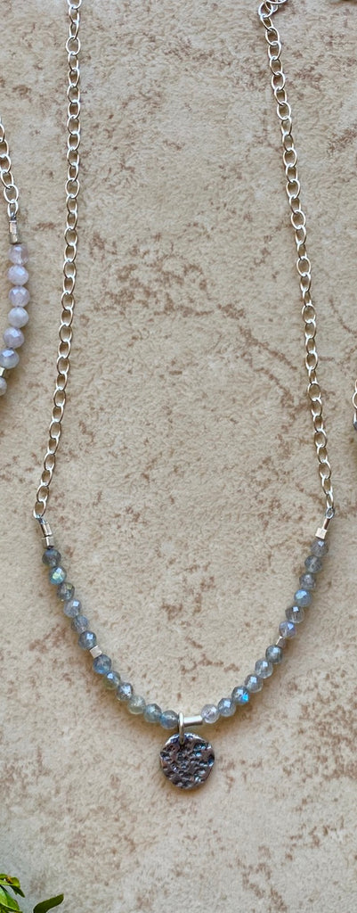 "(c) Christina Holland Silver Elements ""Moon"" Pendant Necklaces"