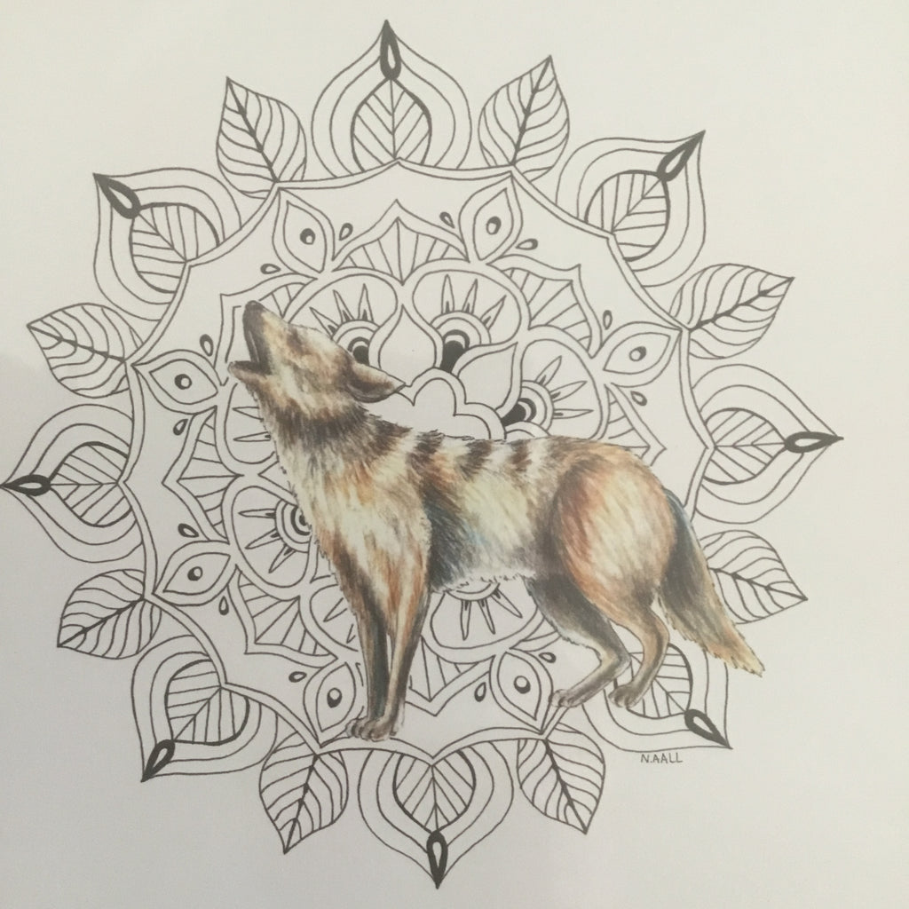 (c) Aall Forms of Life Throat Chakra Coyote Print