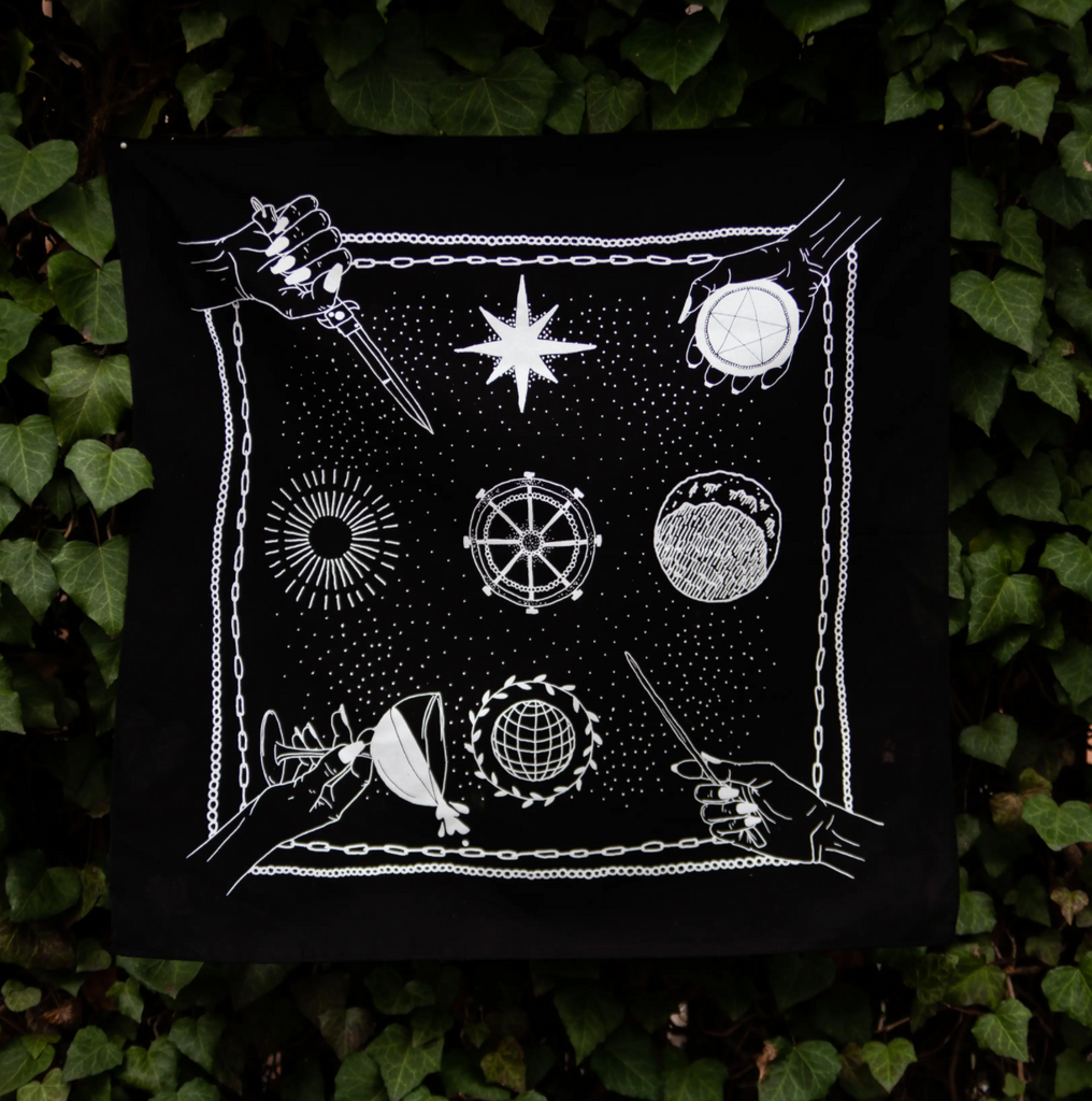 Tarot Suits Altar Cloth/Bandana
