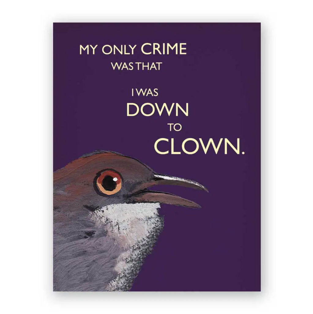My Only Crime Card