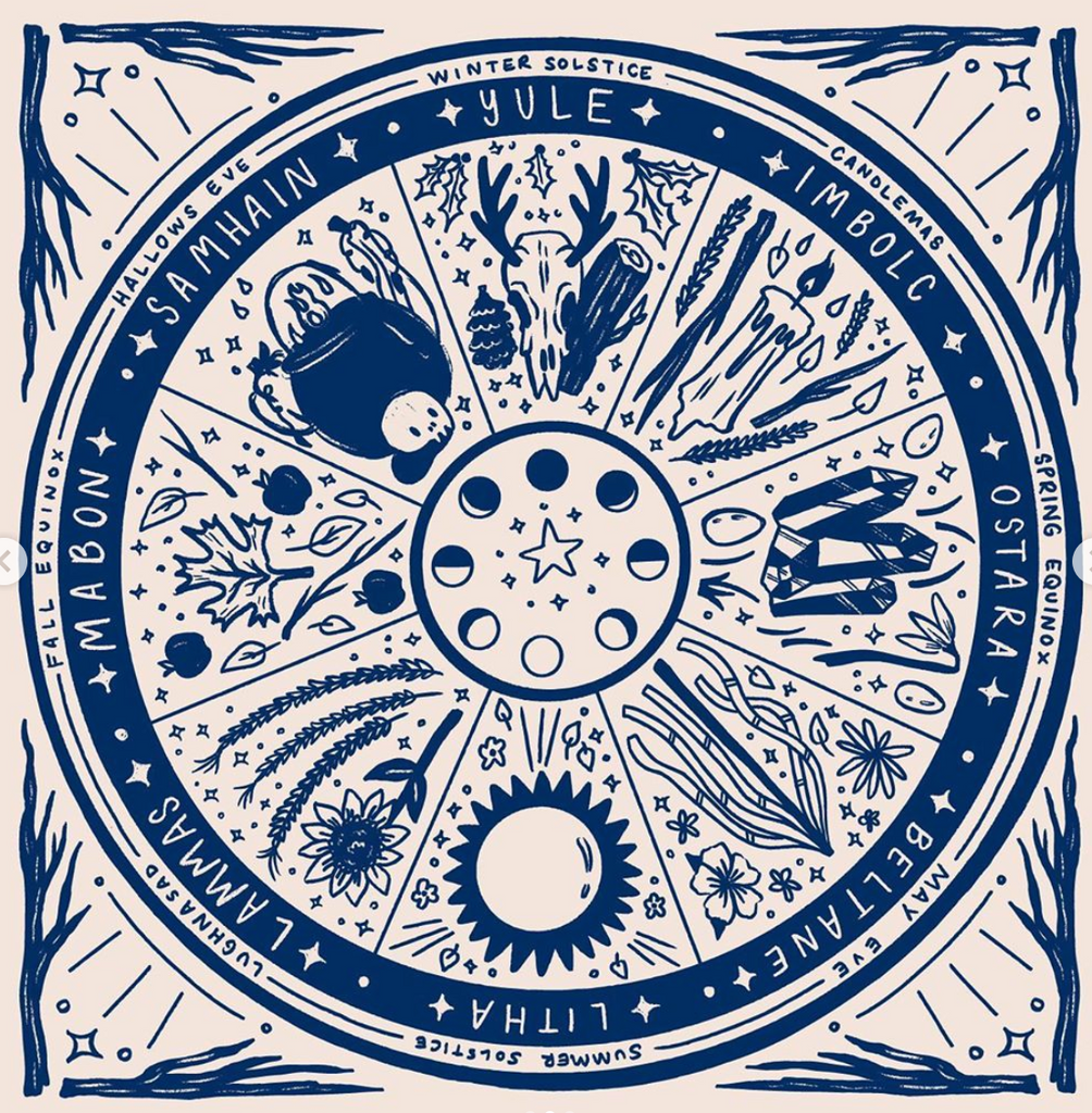 (c) Sophie McTear Wheel of the Year Bandana