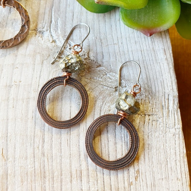 (c) Christina Holland Pyrite Earrings