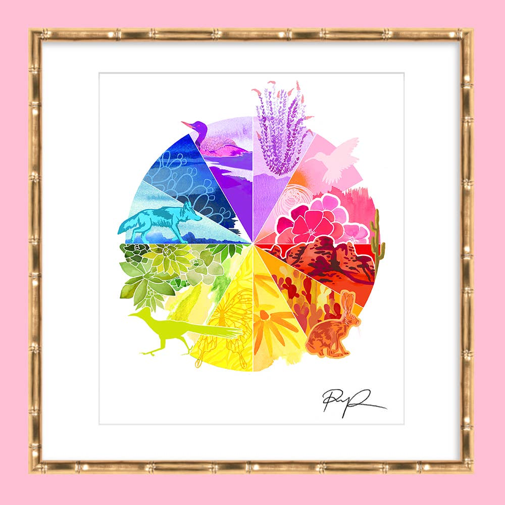 Southwest Colorwheel Art Print