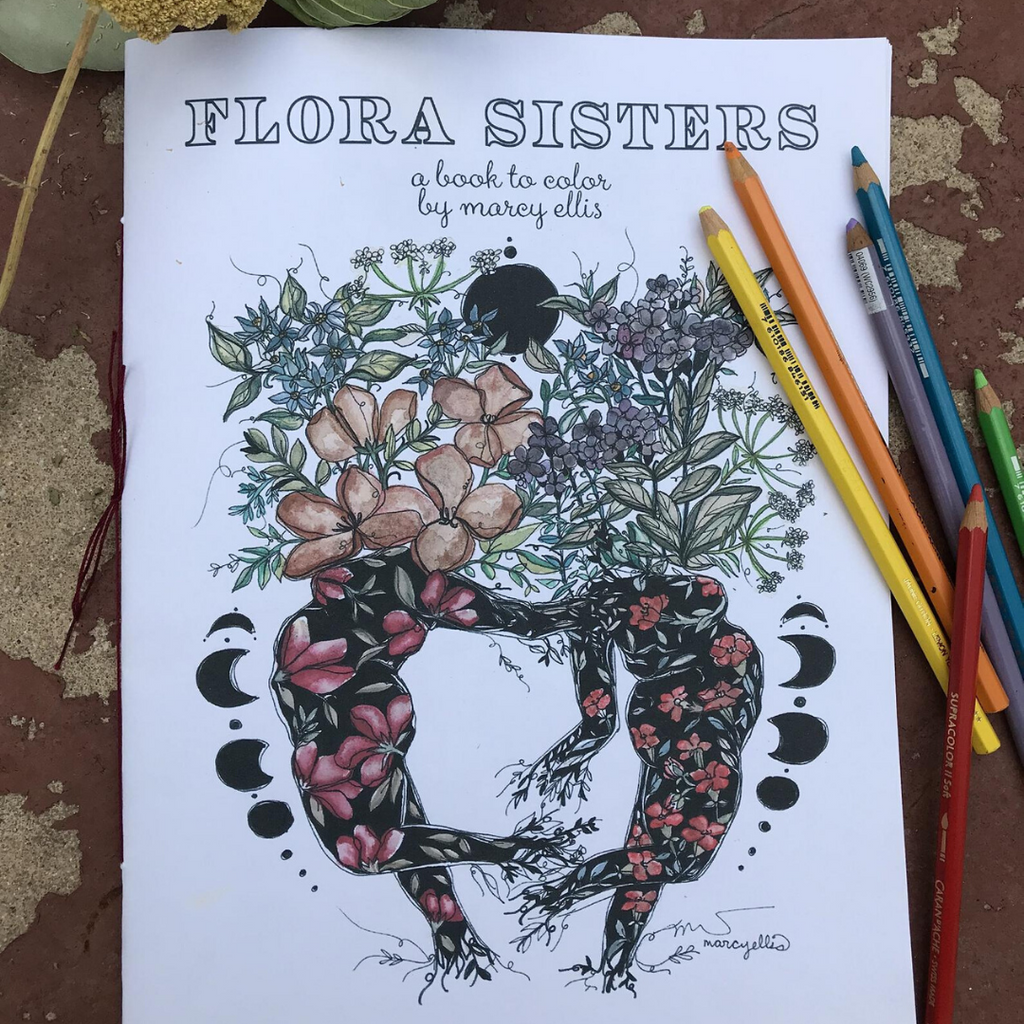 Marcy Ellis Flora Sisters Coloring Book