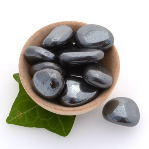 Hematite energy cleaning pocket stone