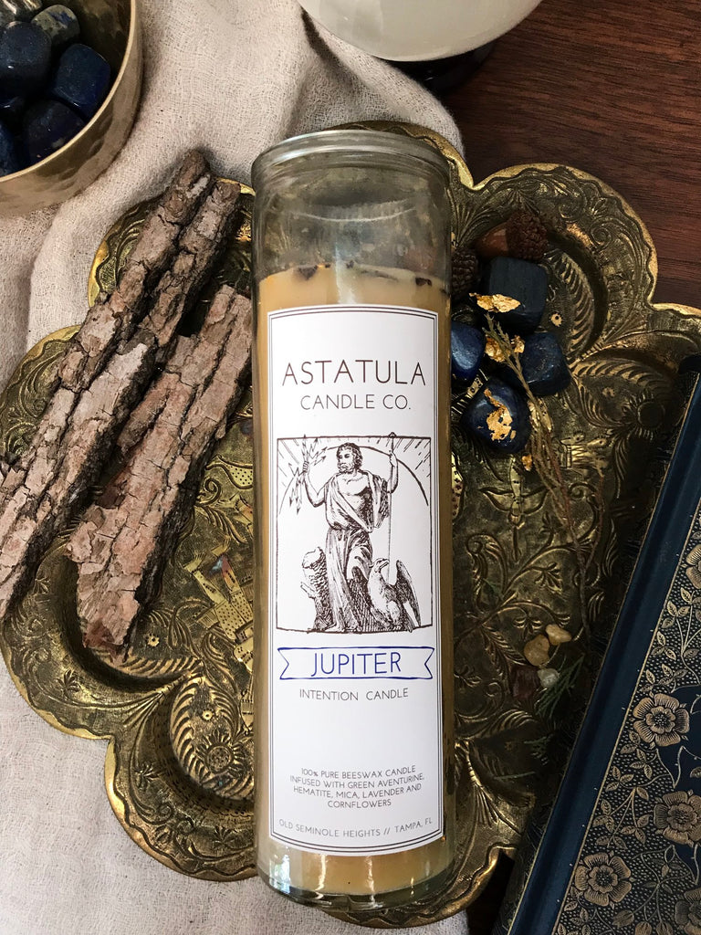Jupiter Intention Candle | Beeswax | Astatula Candle Co.