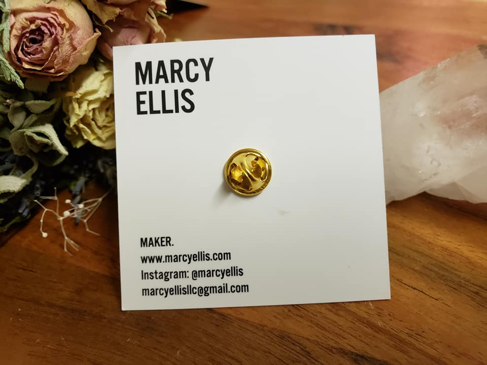 Marcy Ellis Oh Yes I Can Enamel Pin