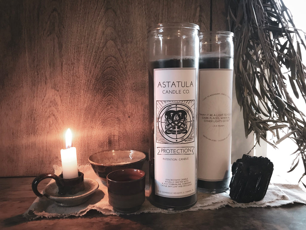 Protection Intention Candle | Beeswax | Astatula Candle Co.