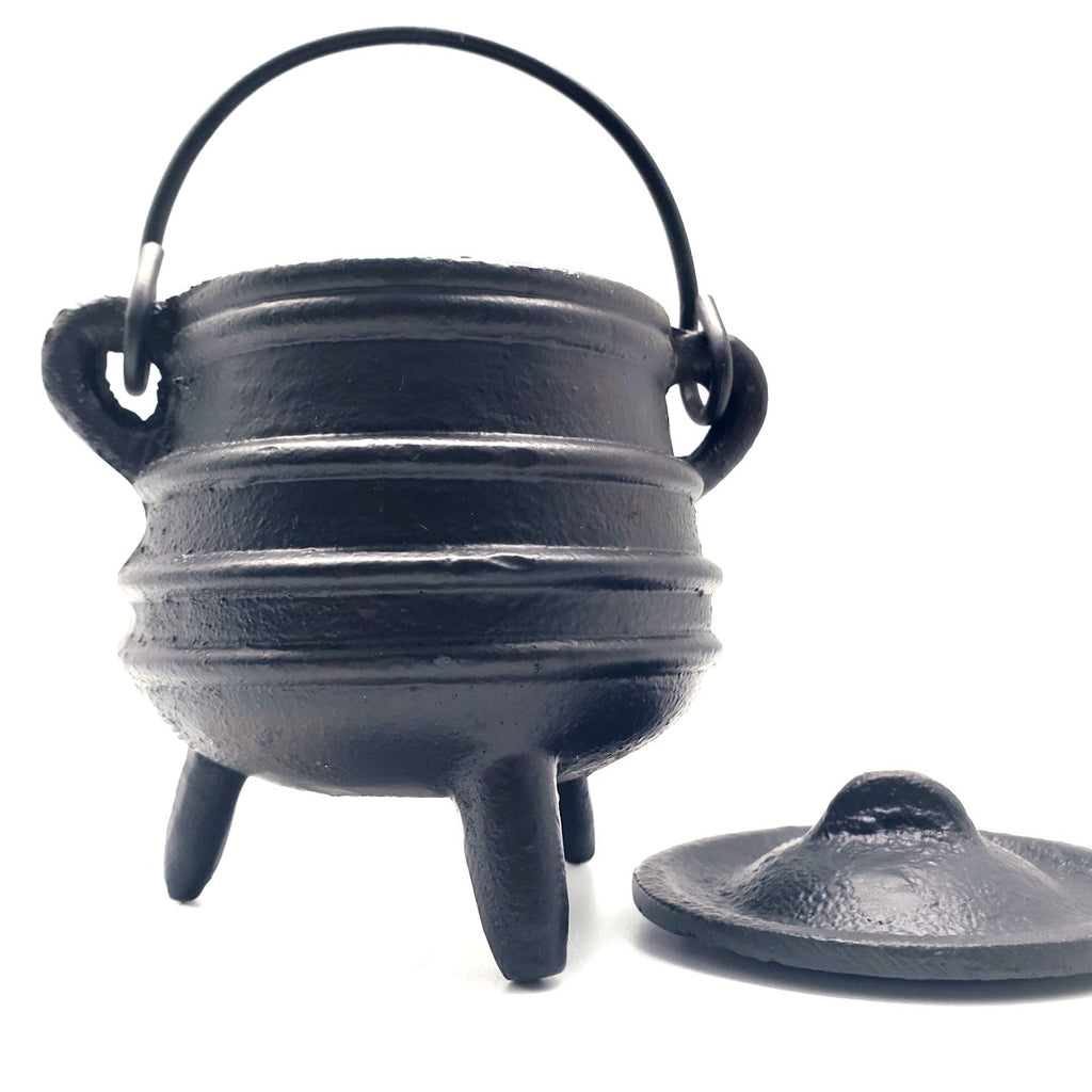Small Cast Iron Cauldron with Lid