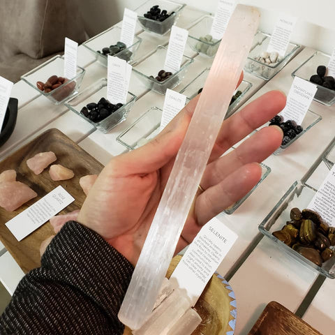 Large selenite wand