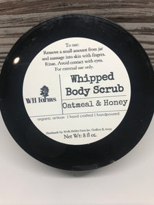 Whipped sugar scrub- oatmeal milk and honey
