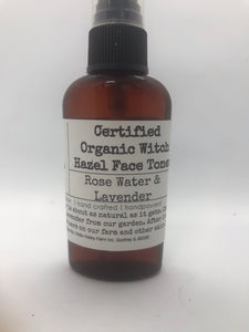 Rose water & lavender witch hazel face toner