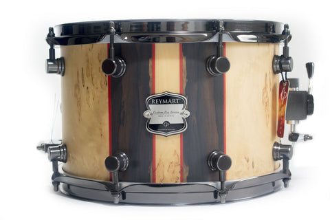 Tarola Reymart Custom Pro 12 X 8 Maple, Birch Burl, Ziricote