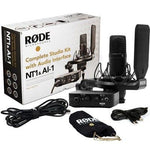 Kit de estudio con interfaz de audio RØDE NT1 + AI-1