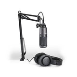 Paquete de streaming/podcasting audio-technica AT2020USB+PK