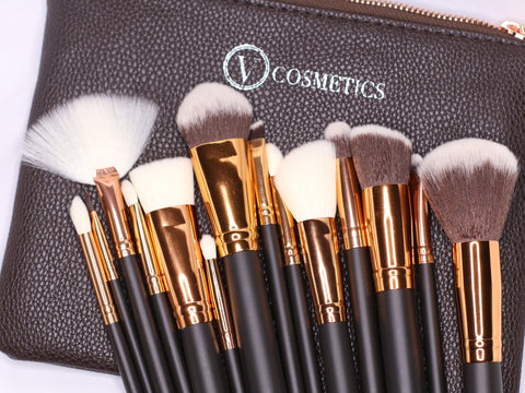 15 pc Brush Set with Travel Bag