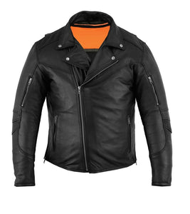 MotoArt Men's Classic Cruiser V2 Biker Leather Jacket
