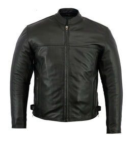 Mens Dakota Concealed Carry Leather Jacket - Very Popular! - MotoArt Leather