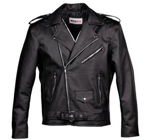 MotoArt Men's Classic Cruiser V1 Faux Motorcycle Leather Jacket - MotoArt Leather