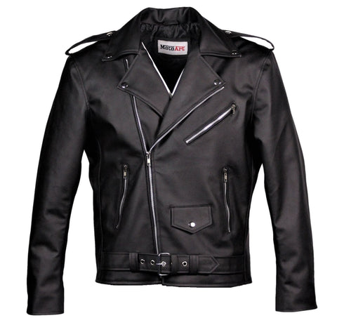 MotoArt Men's Classic Cruiser V1 Faux Motorcycle Leather Jacket