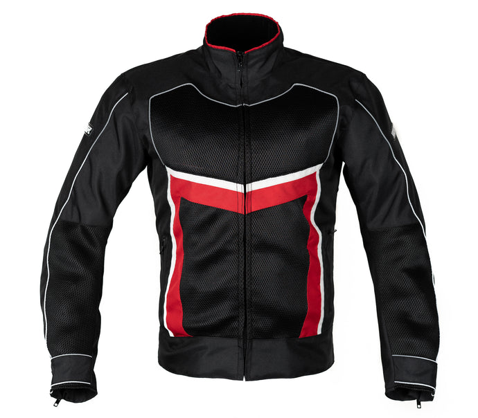 MotoArt ReflectorMX Textile Motorcycle Jacket Cordura 1000D Red - MotoArt Leather