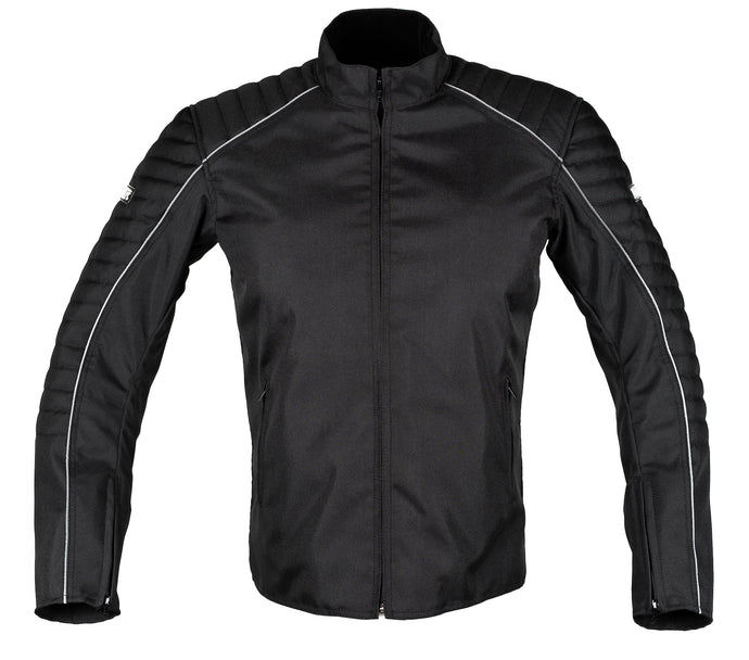 MotoArt BikerMX Textile Motorcycle Jacket Cordura 1000D Full Black - MotoArt Leather