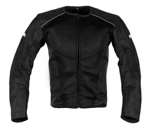 MotoArt BreezeMax Textile Motorcycle Jacket Cordura 1000D Black - MotoArt Leather