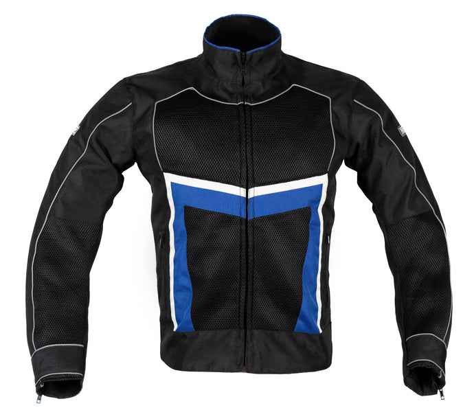 MotoArt ReflectorMX Textile Motorcycle Jacket Cordura 1000D Blue - MotoArt Leather