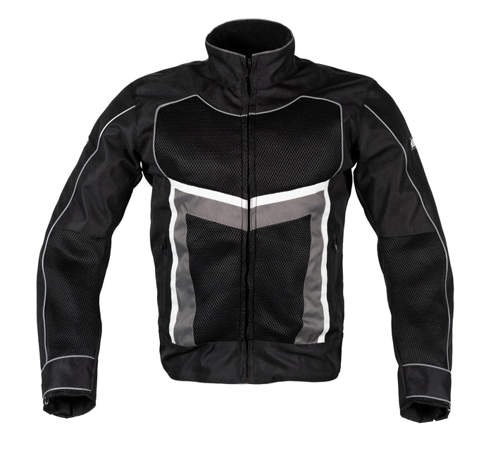 MotoArt ReflectorMX Textile Motorcycle Jacket Cordura 1000D Graphite Black - MotoArt Leather