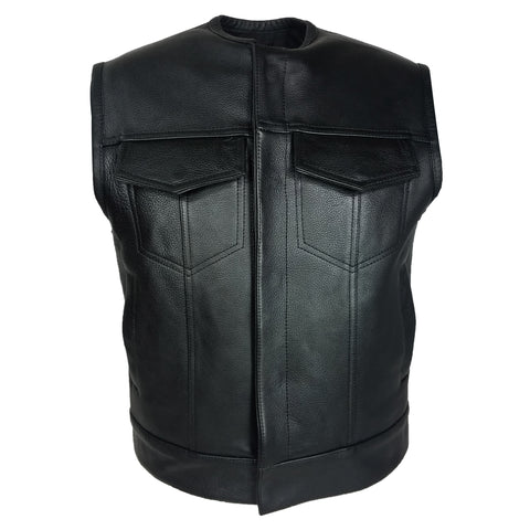 MotoArt Cowhide Leather Vest - Discounted!