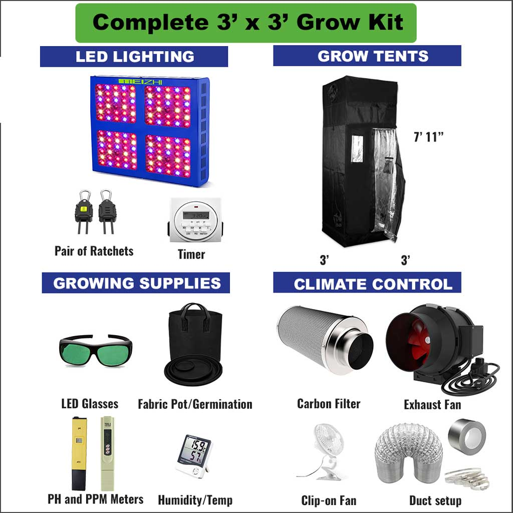 3' x 3' Complete Grow Kit