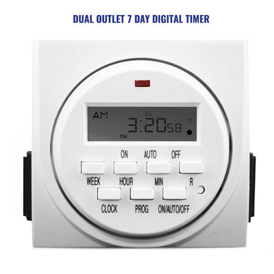 Dual Digital Timer for setting grow light cycle