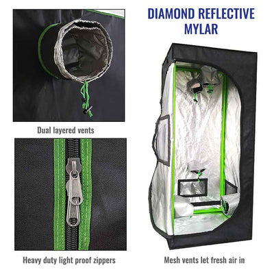 4' x 4' Reflective and Light proof Grow Tent