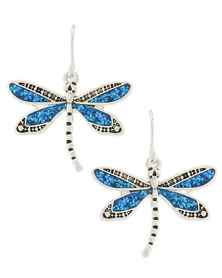 Dragonfly Dangle Earring Set