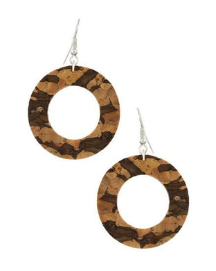 Cork & Leatherette Donut Earring Set