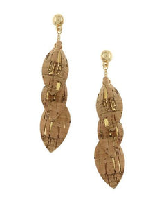Triple Dangle Cork Earring Set - Available in 2 colors