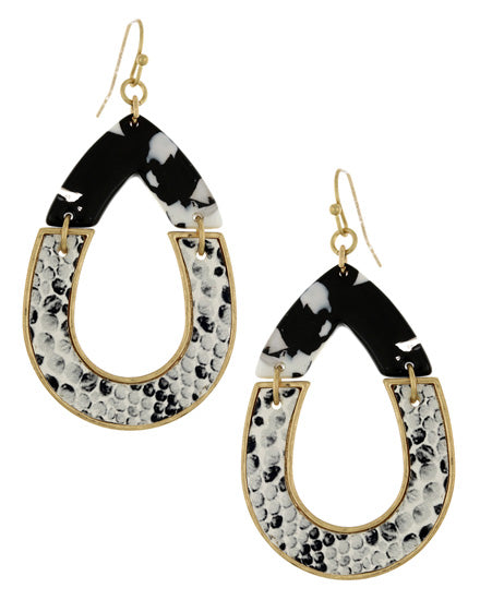 Black & White Leatherette Animal Print