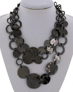 Multi Strand Metal Necklace