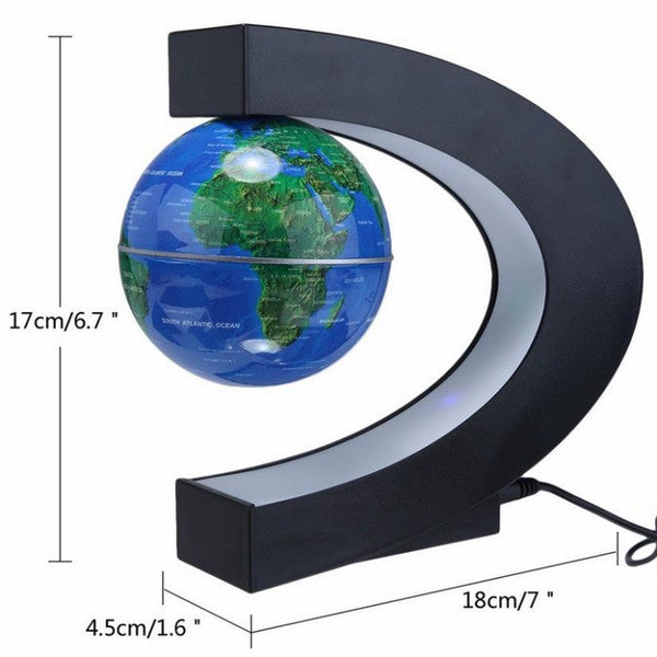 C shape led world map floating globe tellurion magnetic levitation c shape led world map floating globe tellurion magnetic levitation light world map gumiabroncs Images