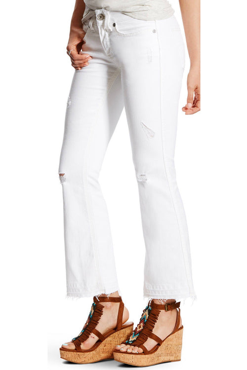 Ariat Cropped Deconstructed White Pants