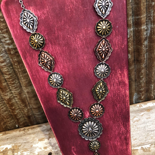 Multi Tone Concho Necklace