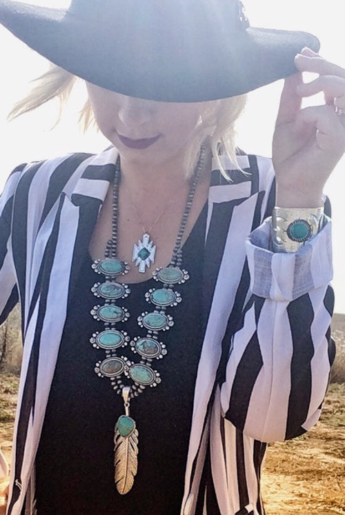 Aztec Turquoise Dainty Necklace