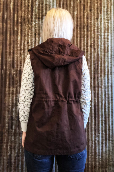 Chocolate Brown Vest