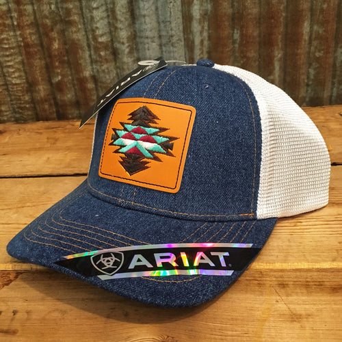 Ariat Denim & Leather Patch Cap