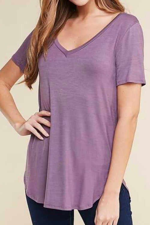 Dusty Purple Basic Tee