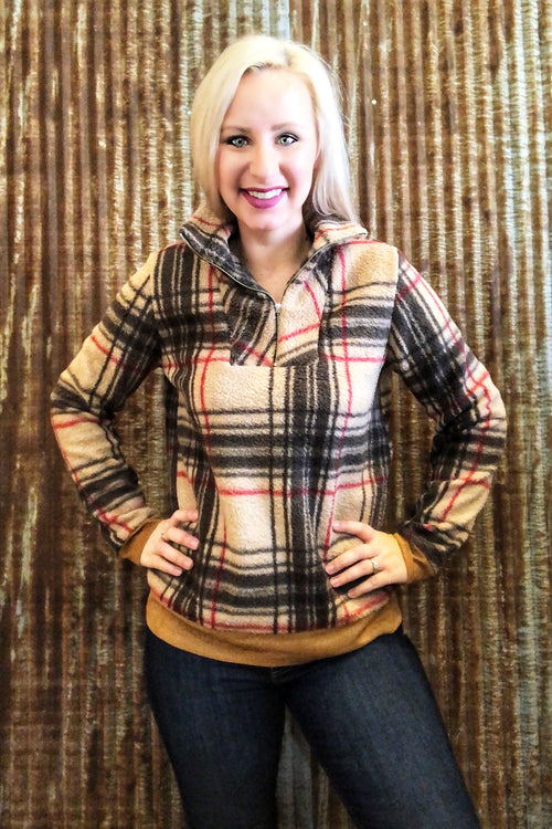 Plaid Cozy Pullover