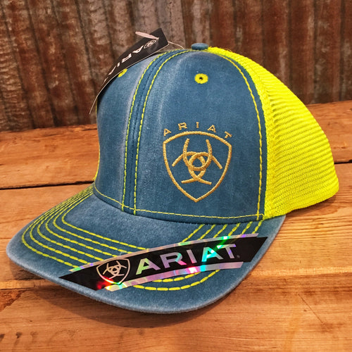 Ariat Washed Blue & Lime Cap
